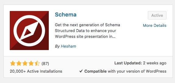 Schema Wordpress Plugin