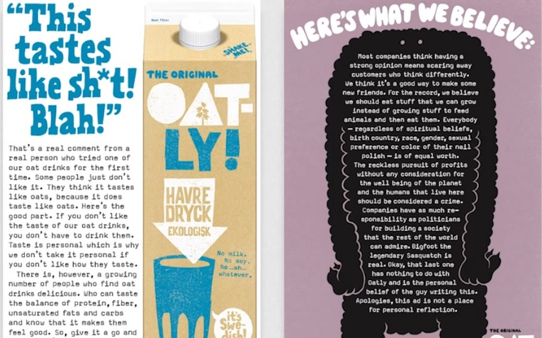 Great Branding examples from Oatly