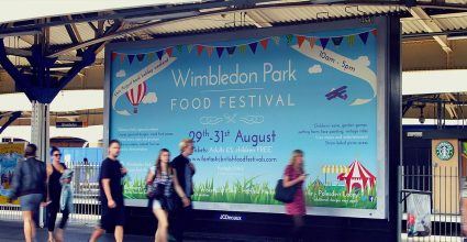 A large Billboard advertisment
