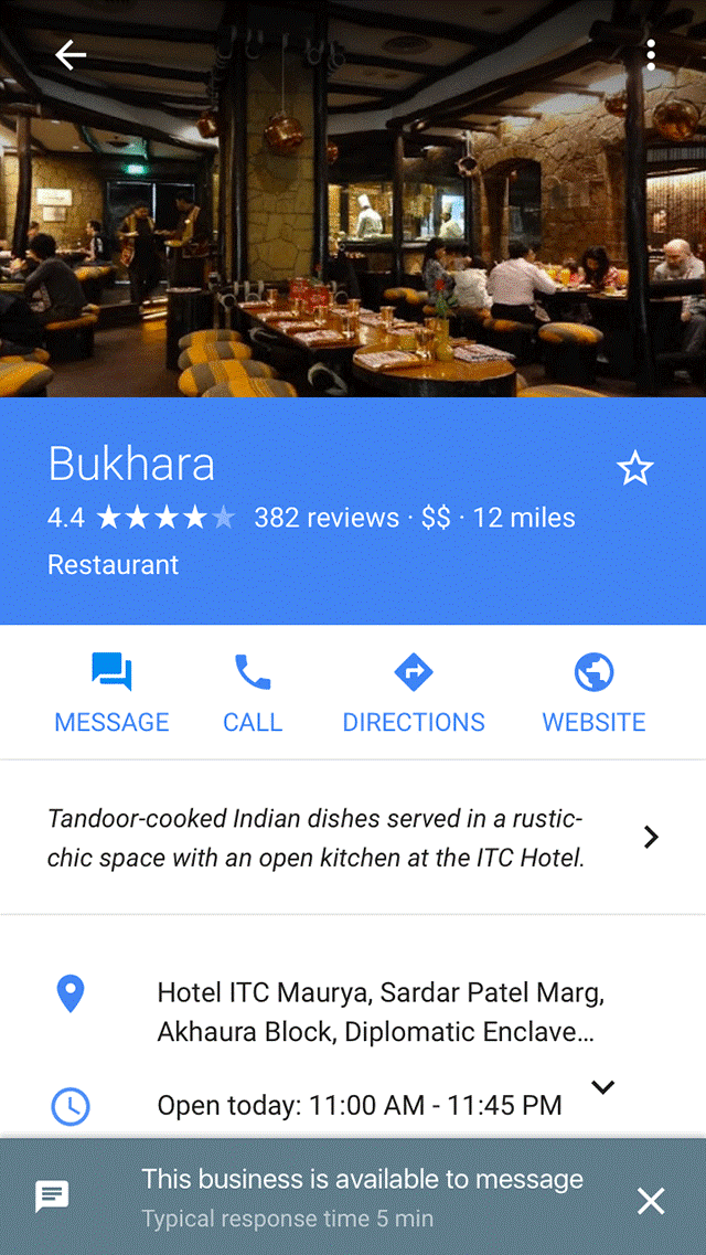 Google Local Business example