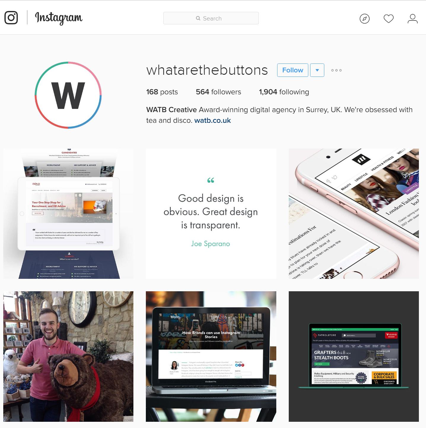 Watb's Instagram
