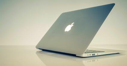 A semi closed laptop