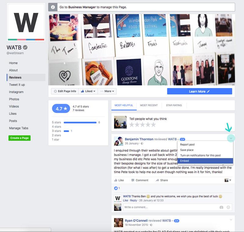 Watb Facebook Reviews