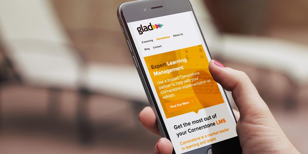 Glad Website on a mobile device