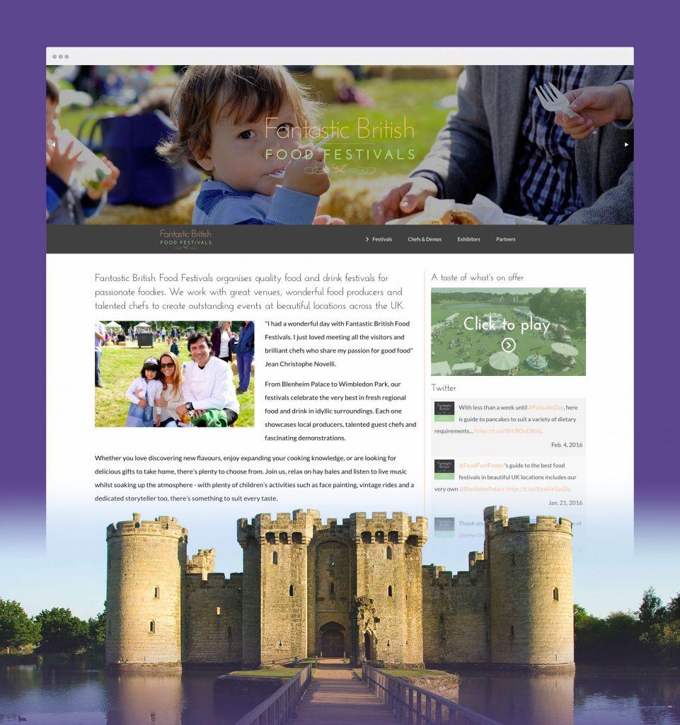 Demo of a Fantastic Food Festivals web page