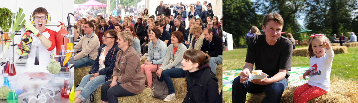 FFF cookery demonstrations and audiences