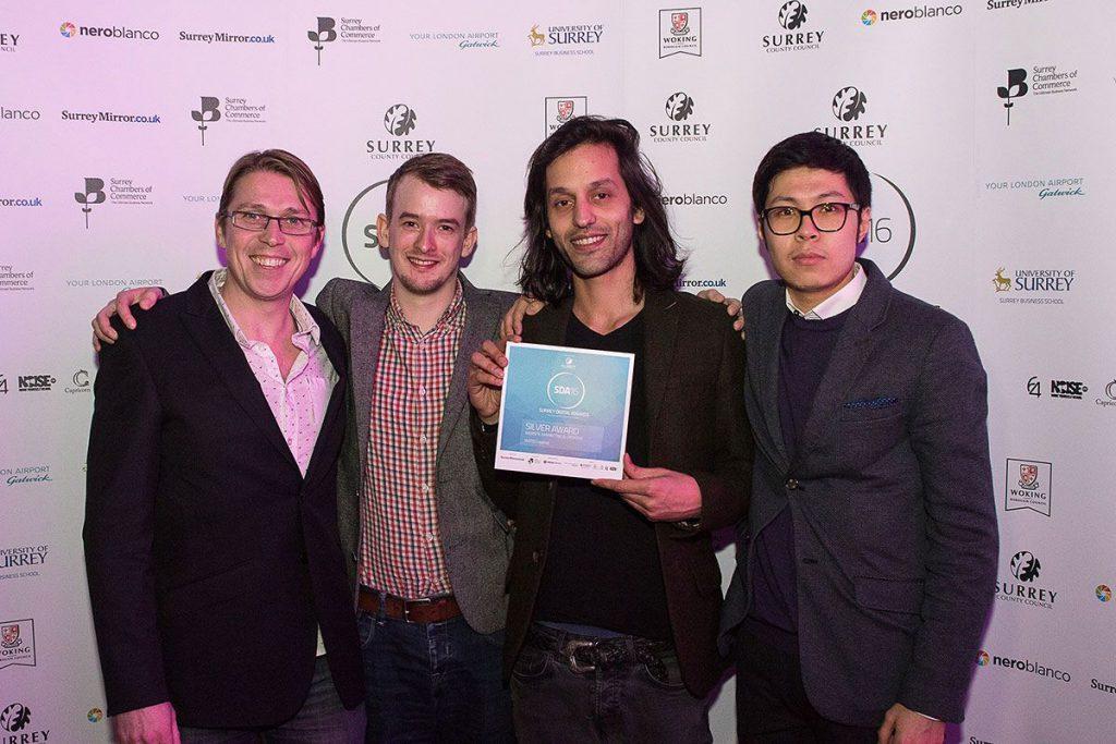 Some of the Watb team receiving an award at SDA16