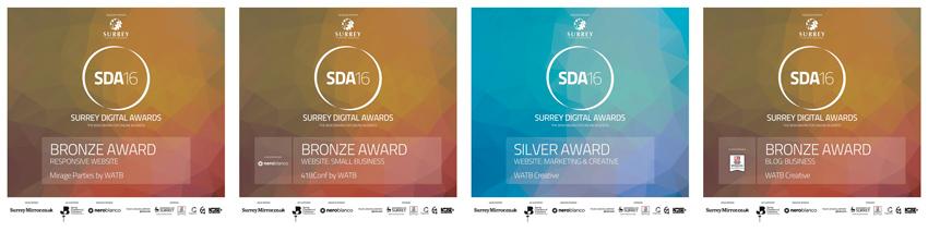 The 4 awards won by Watb at the SDA16 Awards ceremony