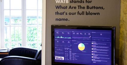 One of the Watb display boards showing data