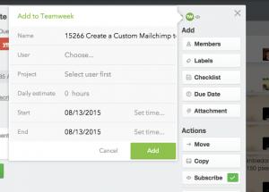 Teamweek example