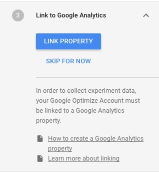 Google Optimise Link Google Analytics