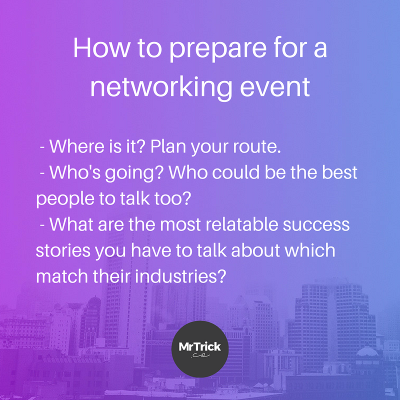preparing for a networking event