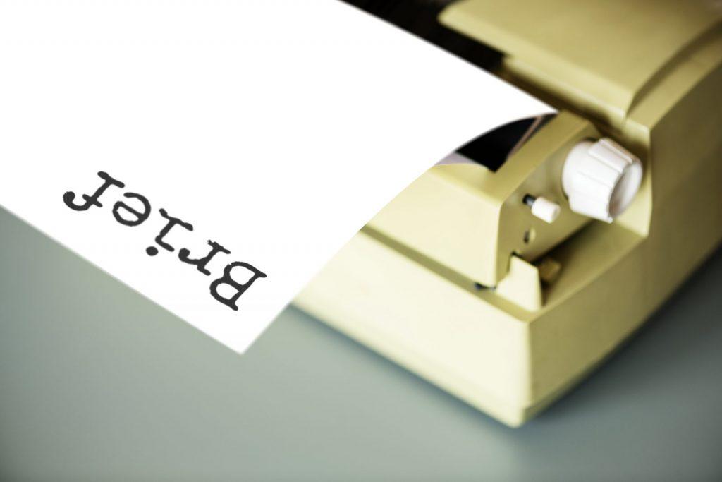 An 80's typwriter