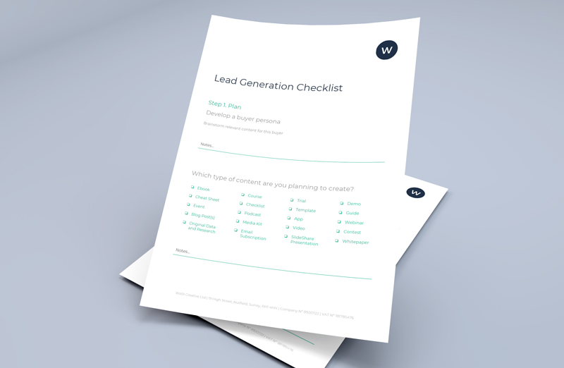 lead generation checklist on paper
