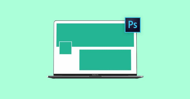 photoshop mockup of laptop with psd template