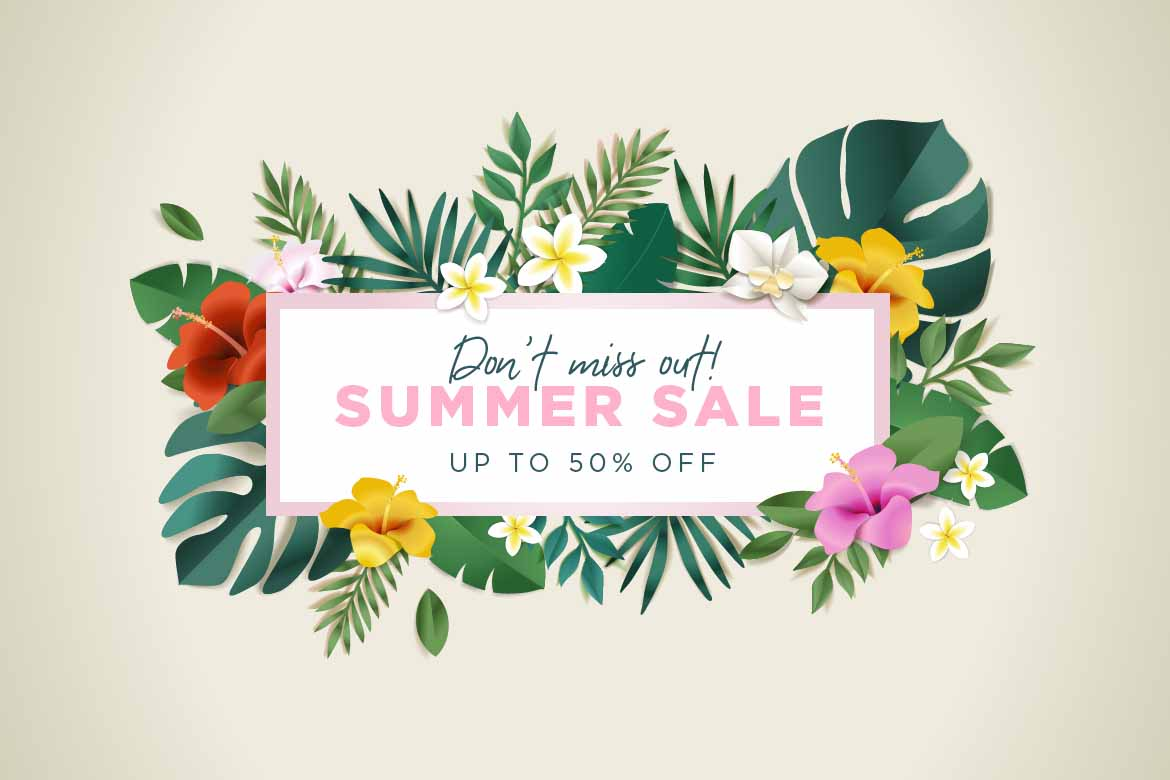 Graphic for a summer sale