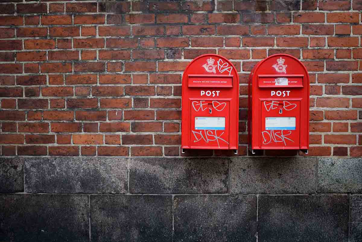 Post boxes on a wall