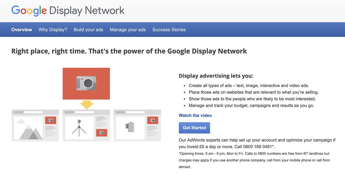 Screenshot of Google Display Network