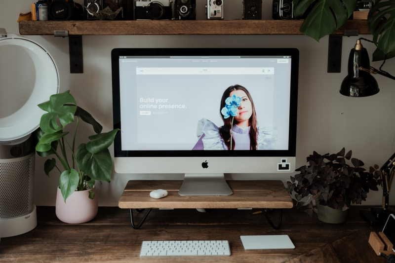 squarespace site on PC