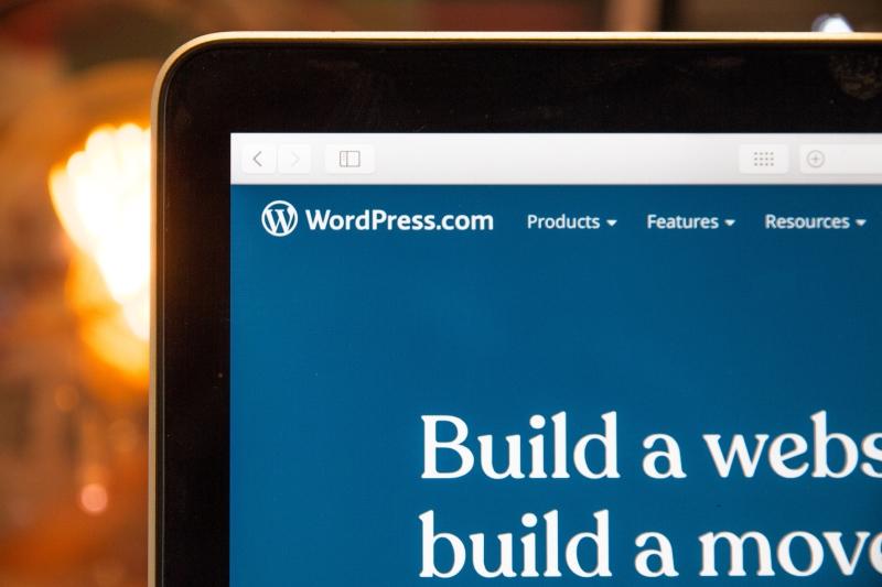 wordpress tab open on screen