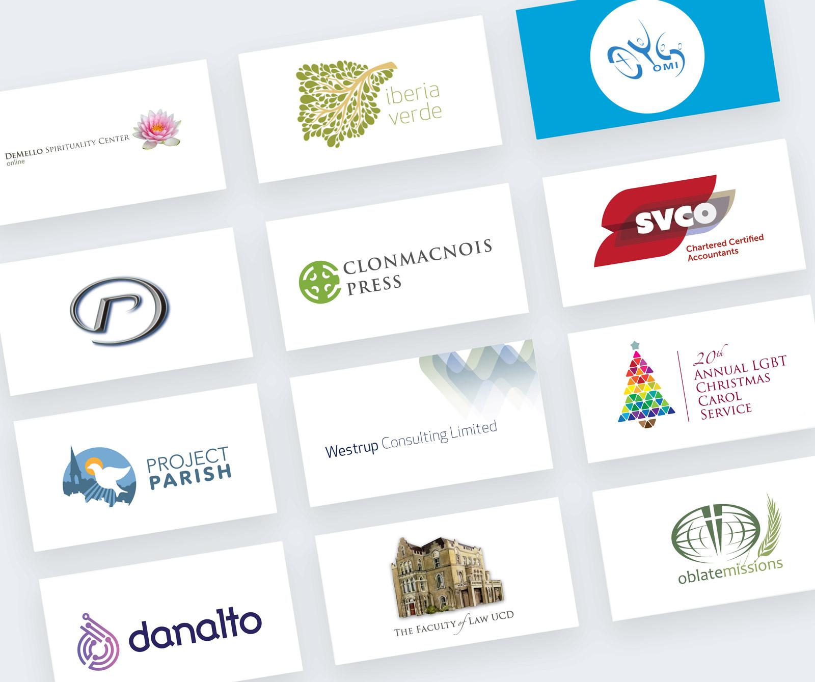 A range of Logos designed by Colum Keating