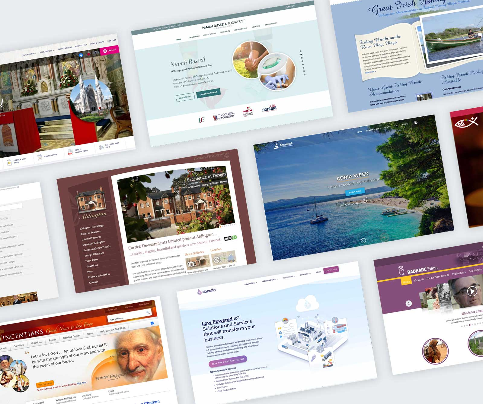 A range of websites by Colum Keating