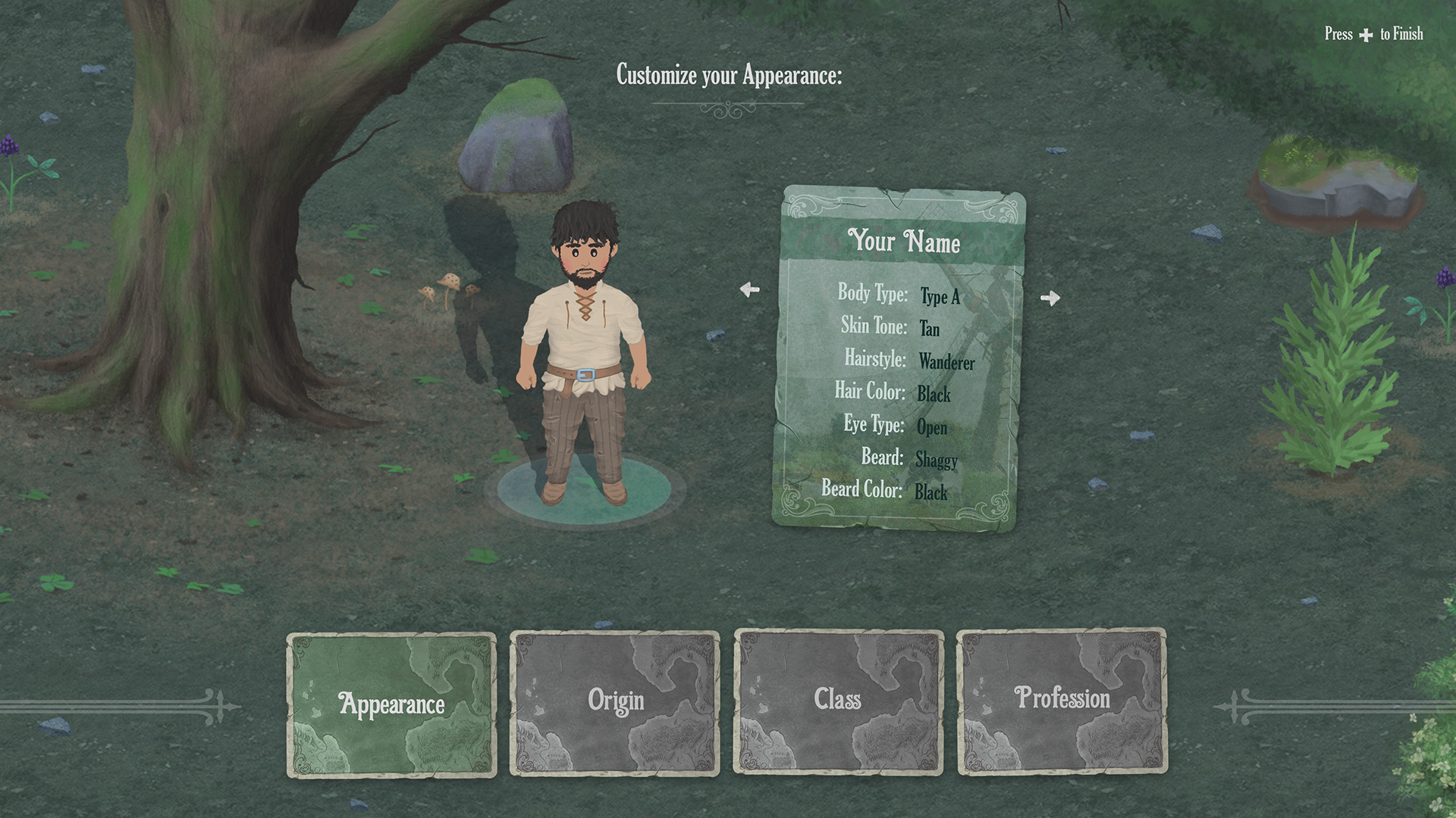 Mirthwood Character Creation Screenshot