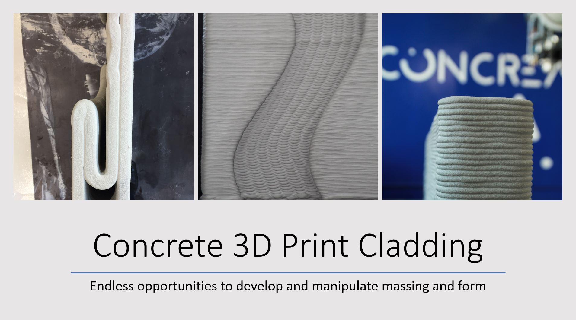 Concrete 3D Print Cladding facade