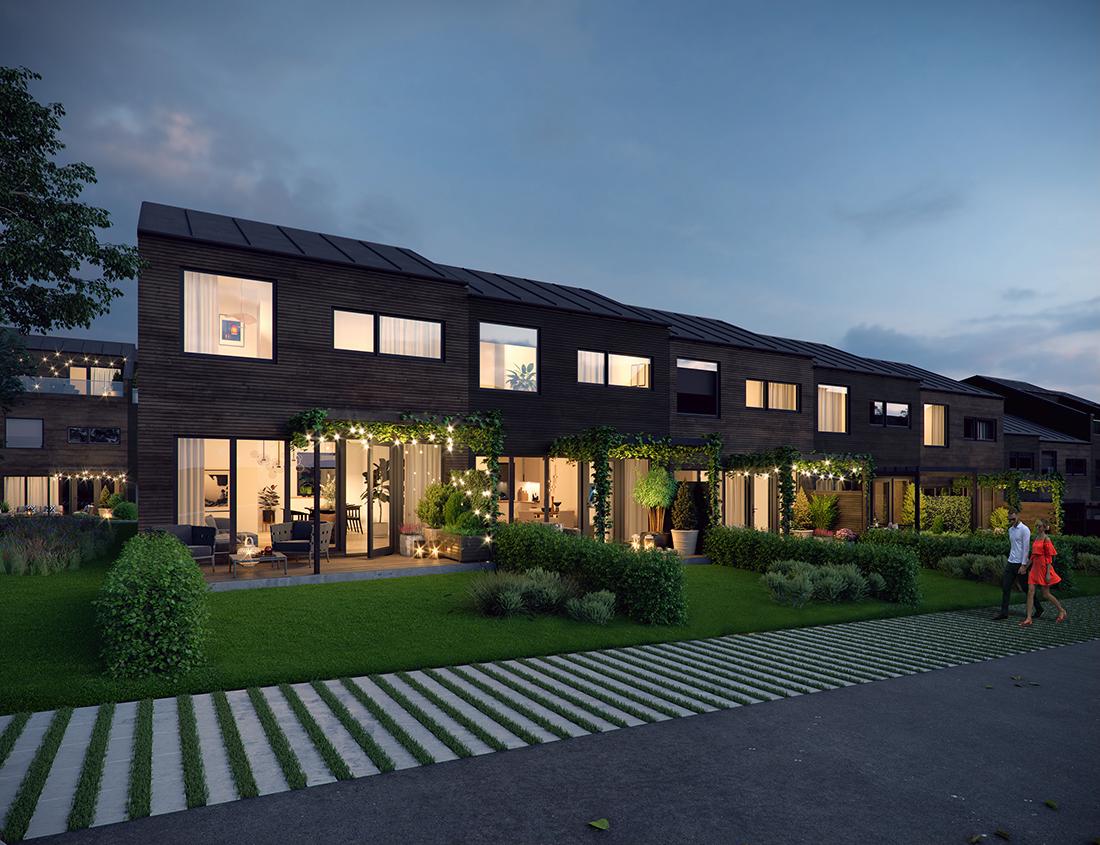 Fasade: Produksjon av 3d bilder for noe boligprosjekter på vegne av Sem og Johnsen