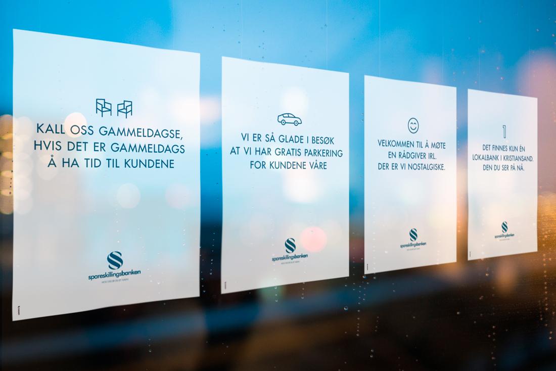 Annonsen til spareskillingsbanken inngikk i en kampanje som også ble vist digitalt og på plakater.
