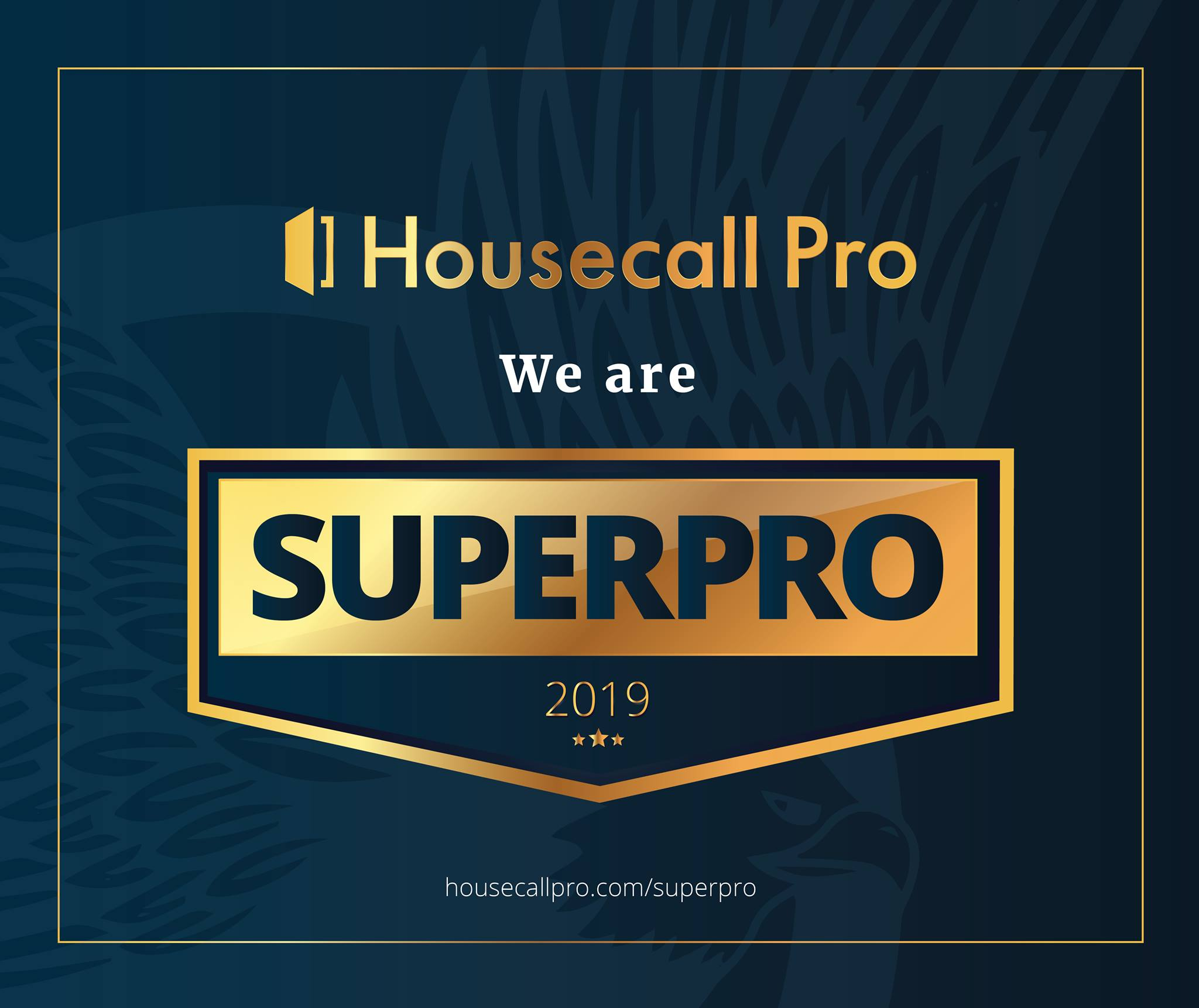 Airtegrity have been awarded the Housecall Pro Superpro award for 2019