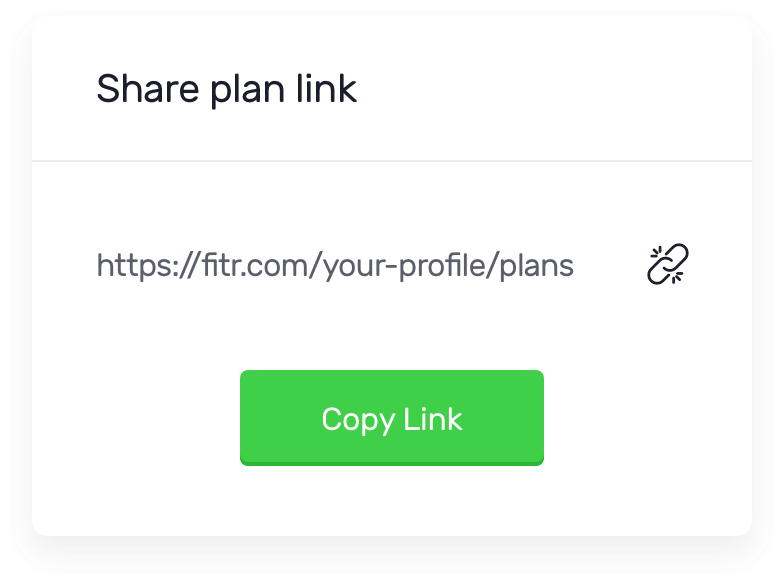 Share training plan links