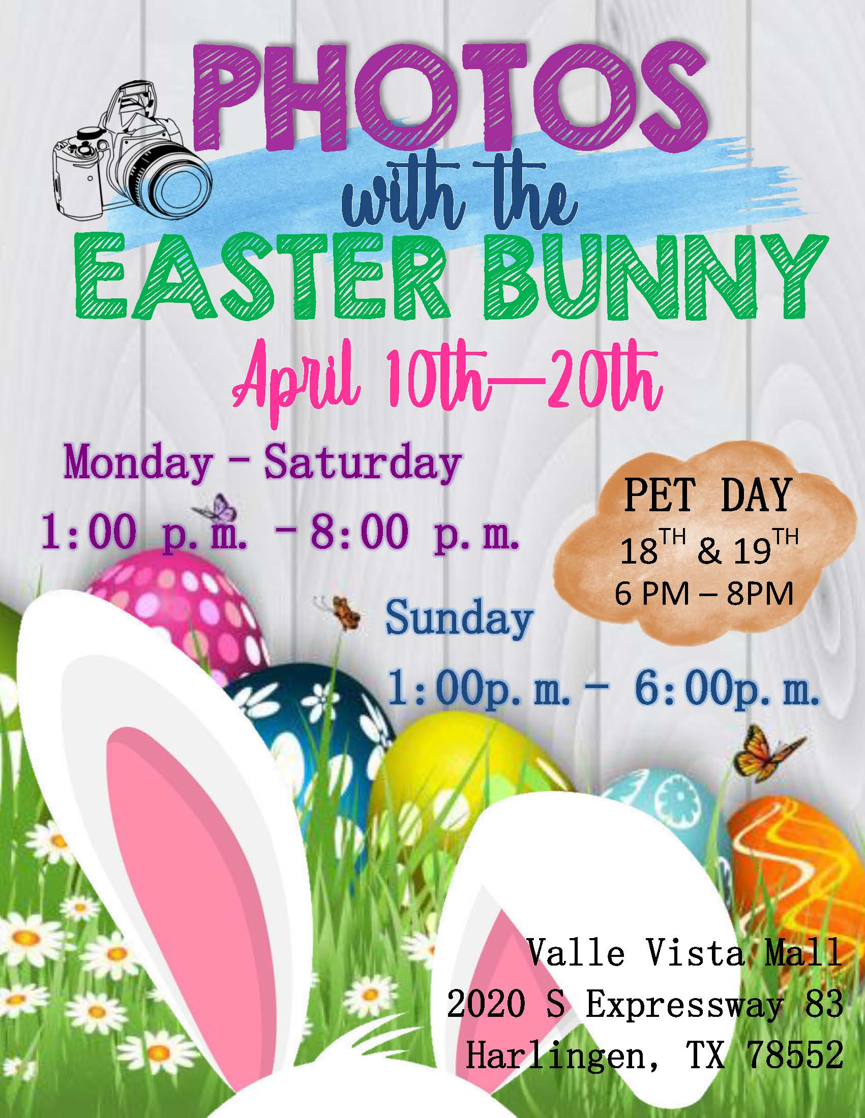 Photos with Easter Bunny Poster