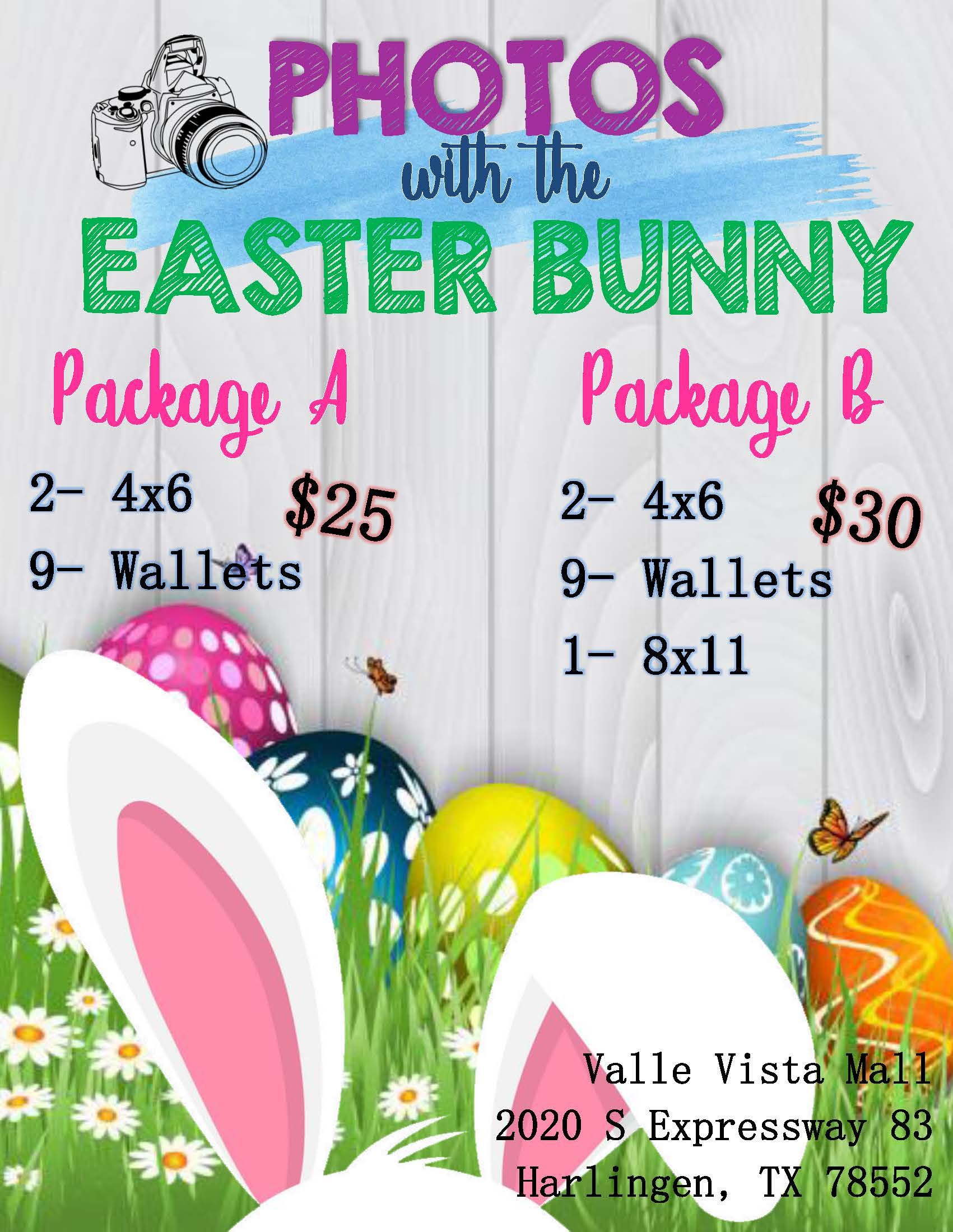 Easter Bunny Photo Packages