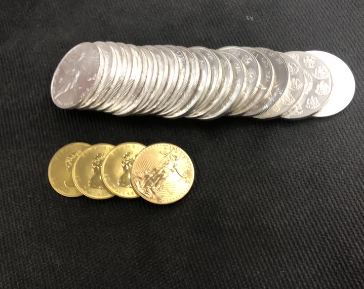 Silver and Golden Coins