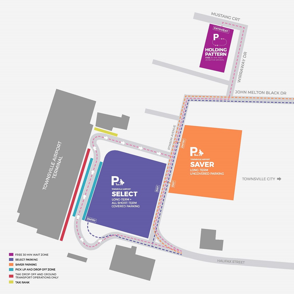 Townsville Airport Map Parking Information – Townsville Airport
