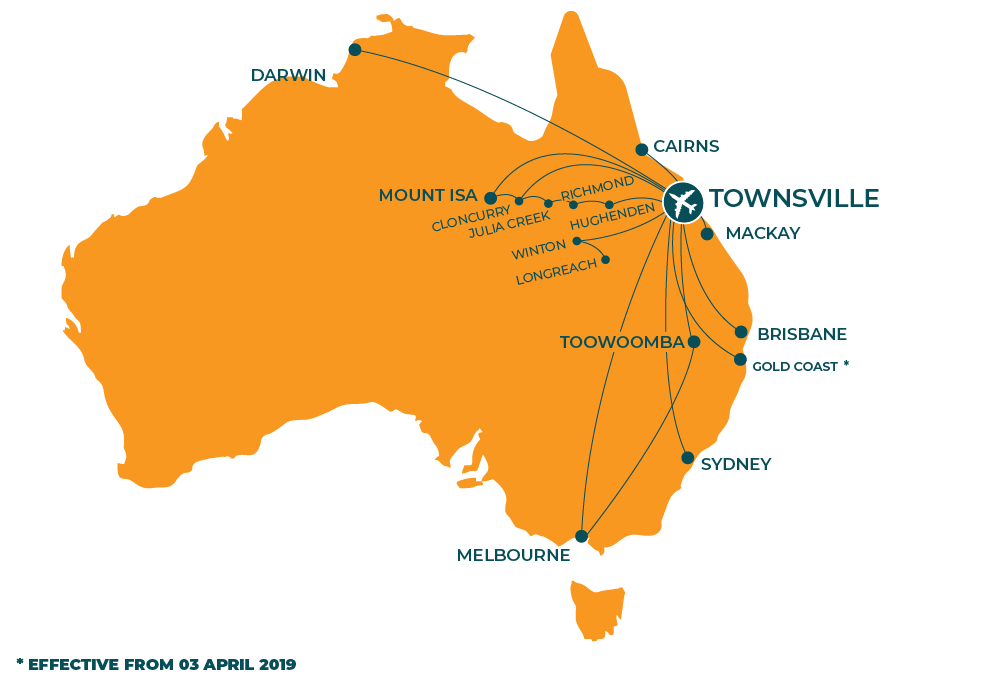 Townsville Airport Map Where can I fly? – Townsville Airport