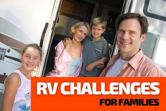 RV Challenges for Families - Family in an RV