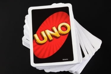 Pile of Uno cards