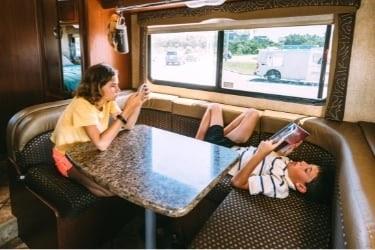 Kids bored inside an RV