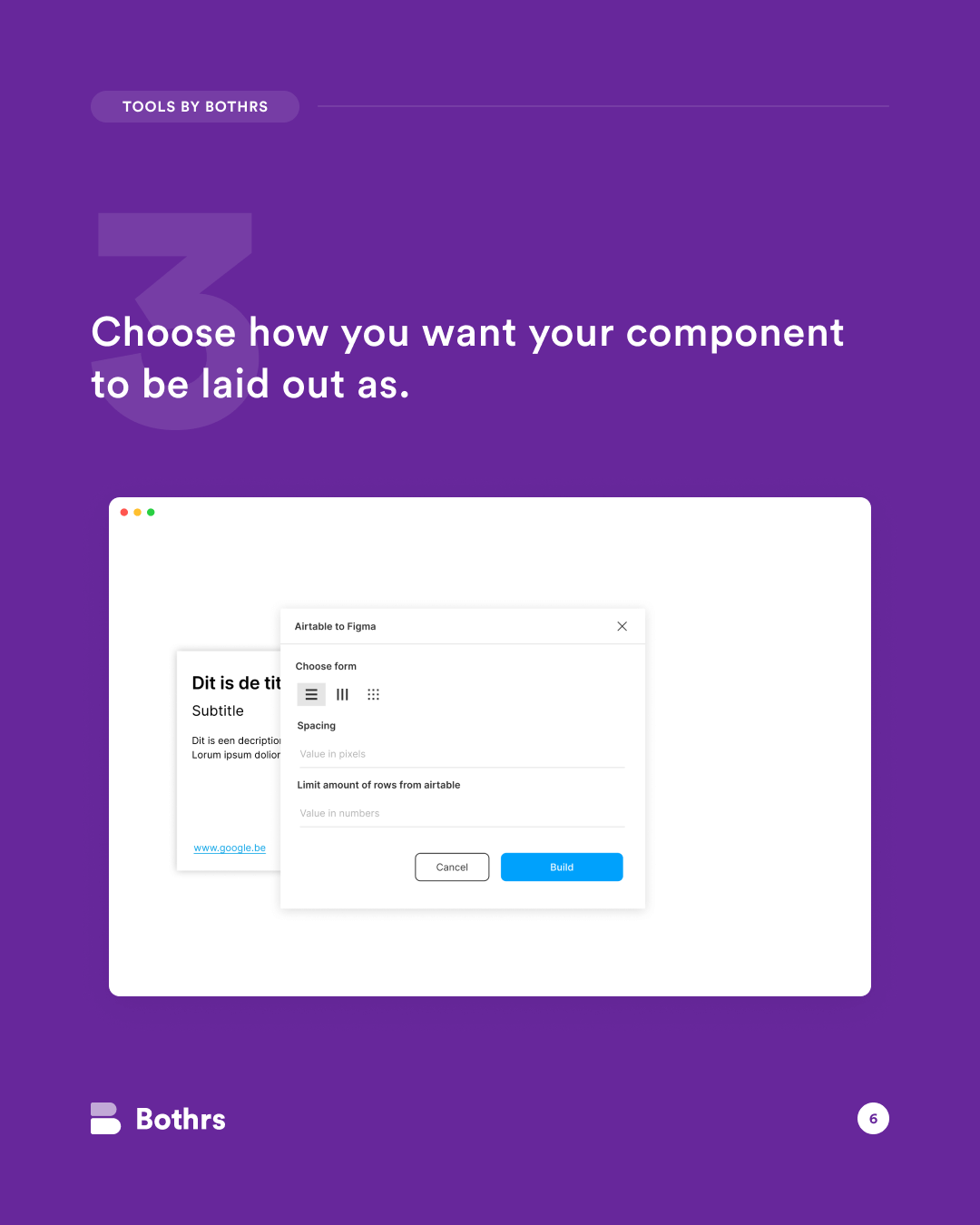 Bothrs - Using Airtable data to enrich your Figma designs