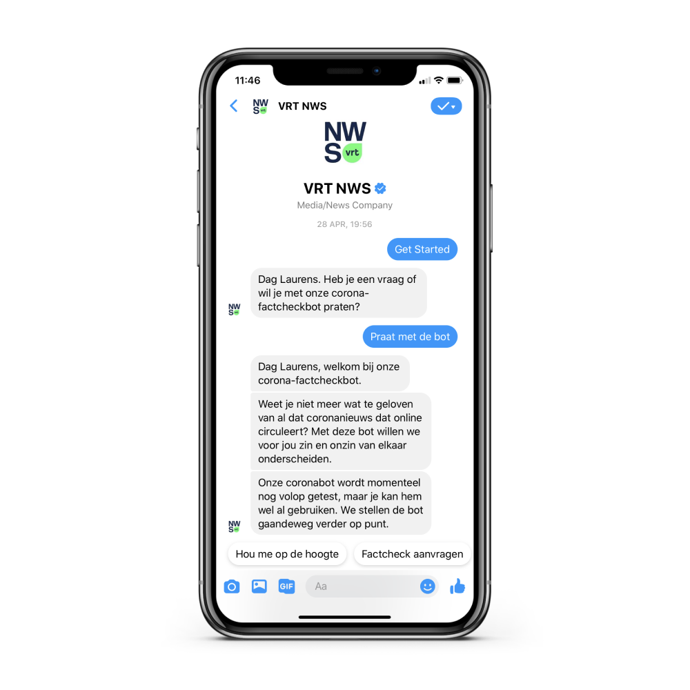 A fact-checking chatbot for COVID-19.