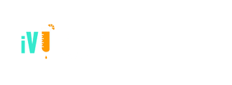 white logo of iV bars Babylon