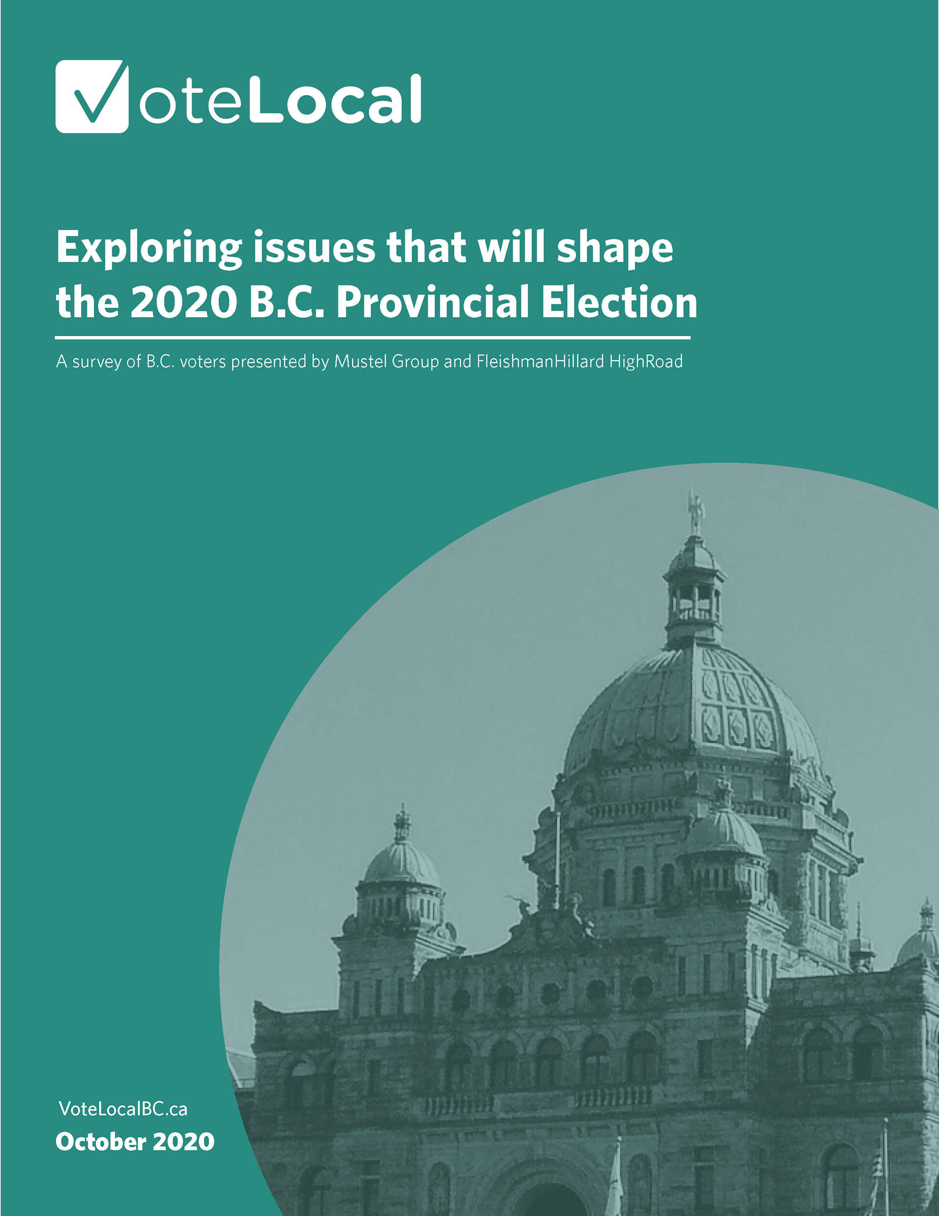 Report cover: Exploring issues that will shape the 2020 B.C. Provincial Election
