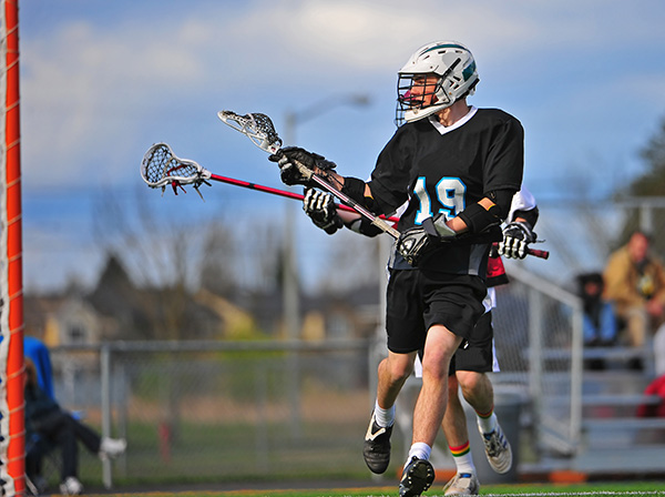 Lacrosse player on the field