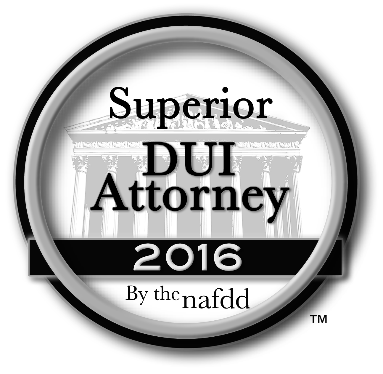 Superior DUI Attorney Badge