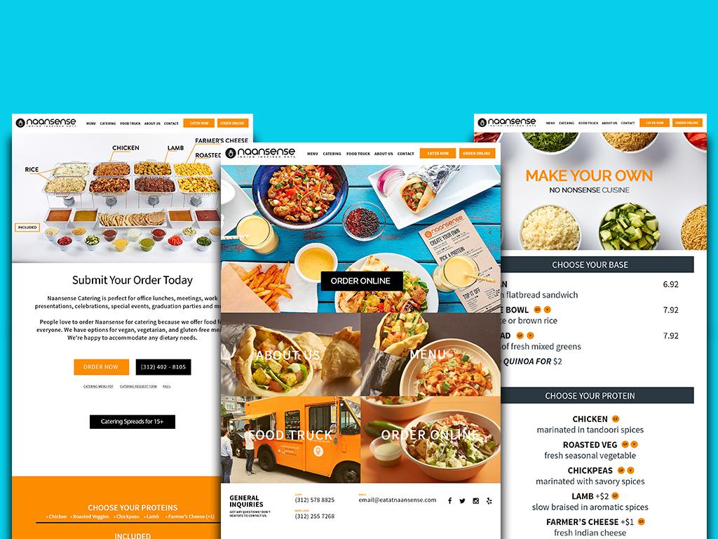 webpages mocked up