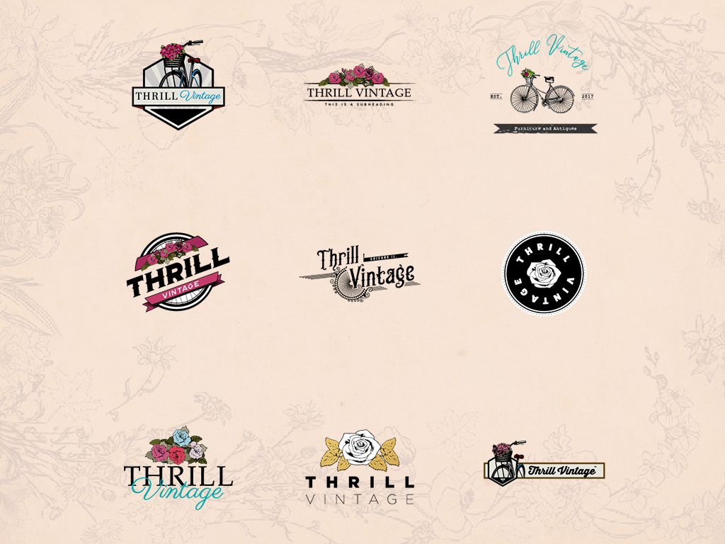 thrill vintage logo concepts