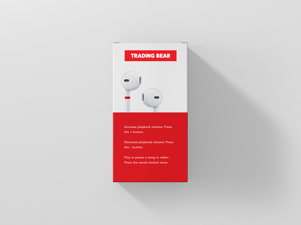 red and white box mockup