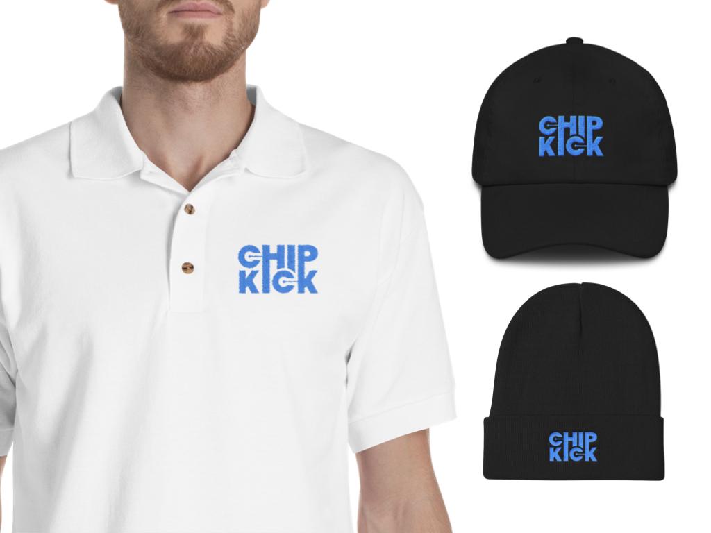 chipkick logo on clothing